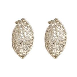 Buccellati Filidora Sterling Silver Filigree Marquise Earrings