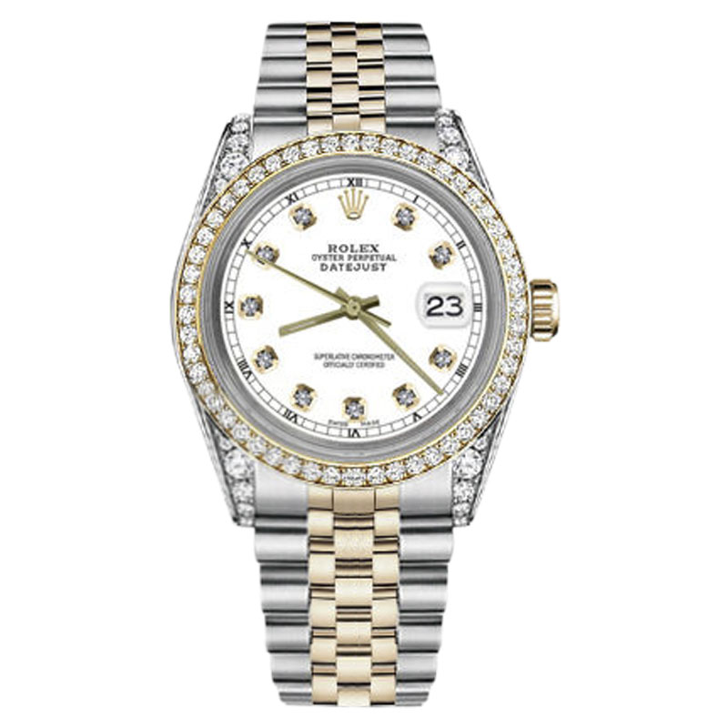 """Image of """"Rolex Datejust Stainless Steel/ 18K Gold White Diamond 31mm Womens"""""""