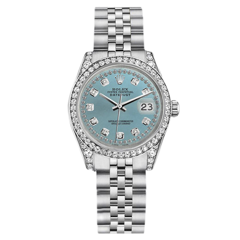 "Image of ""Rolex Datejust Stainless Steel Ice Blue Color Diamond Dial Jubilee"""
