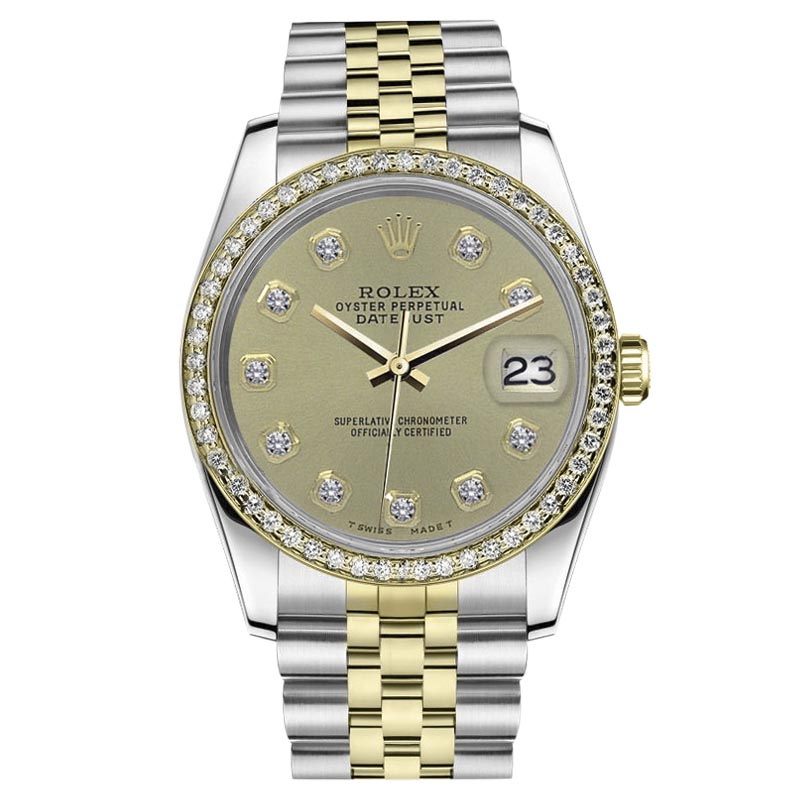 """Image of """"Rolex Datejust Stainless Steel/ 18K Gold Champagne Color Diamond"""""""