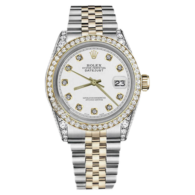 "Image of ""Rolex Datejust 16030 2-Tone 18K Gold/Steel White Diamond 36mm Unisex"""