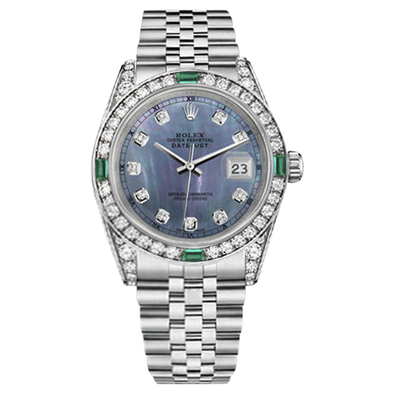 """Image of """"Rolex Datejust Stainless Steel Tahitian Dial 36mm Womens Watch"""""""