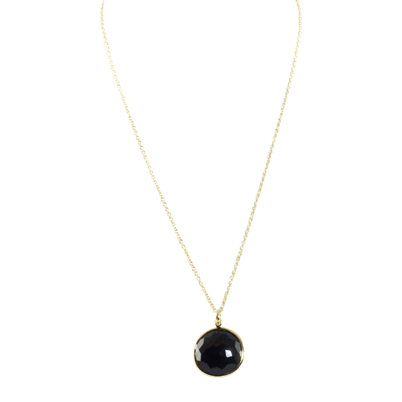 "Image of ""Ippolita 18K Yellow Gold Back Onyx Lollipop Pendant Necklace"""