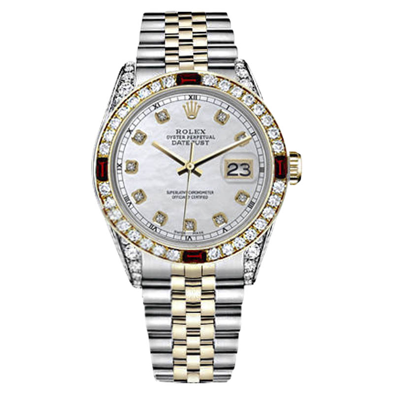 "Image of ""Rolex Datejust Stainless Steel/ 18K Gold White Mother Of Pearl Accent"""