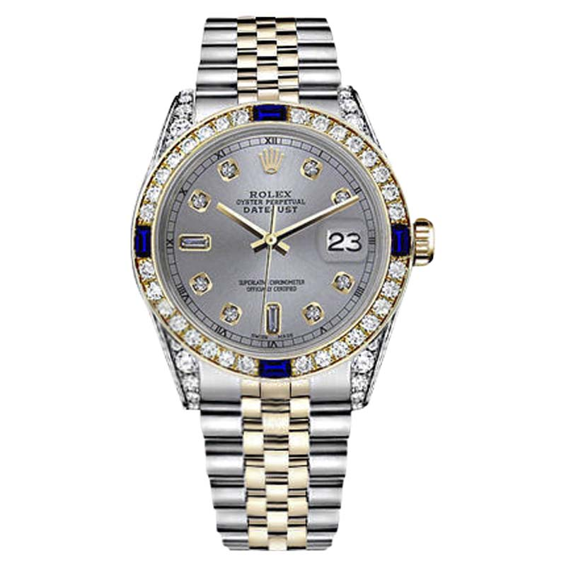 "Image of ""Rolex Datejust Stainless Steel/ 18K Gold Slate Grey Dial With Sapphire"""