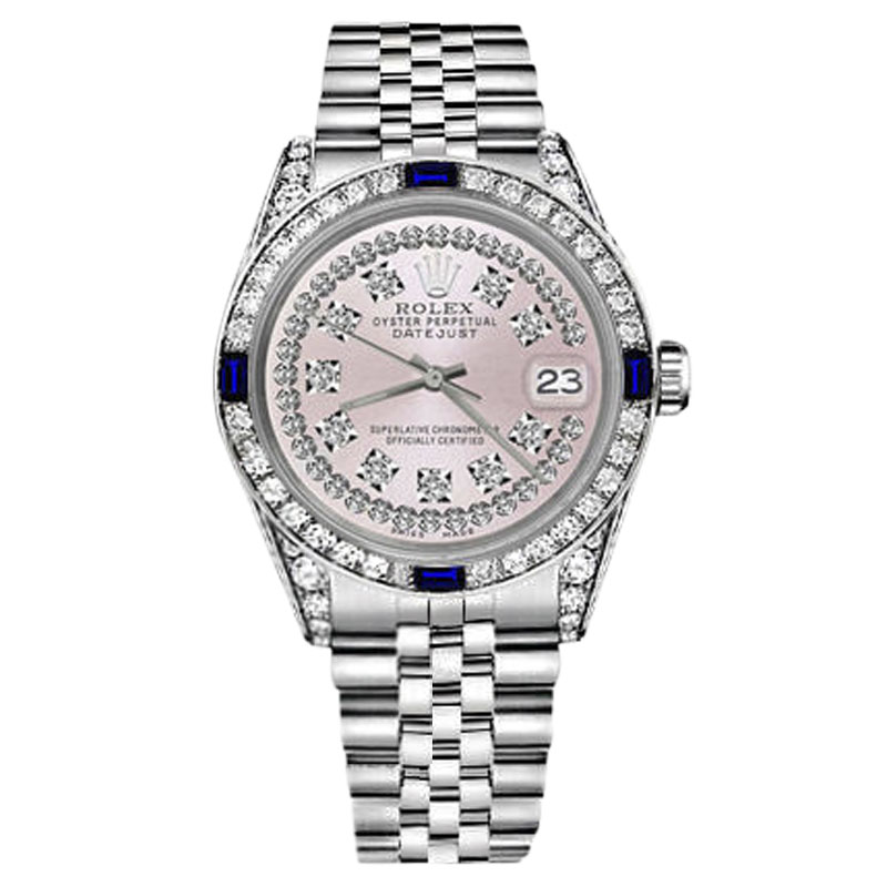 """Image of """"Rolex Datejust Stainless Steel Pink String Dial With Sapphire &"""""""