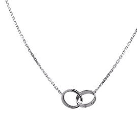 Cartier Love 18K White Gold Diamond Necklace