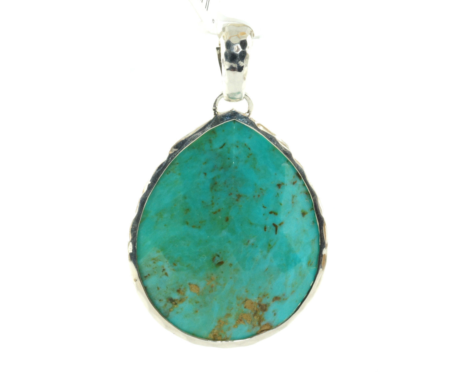 "Image of ""Ippolita .925 Sterling Silver Turquoise Large Teardrop Enhancer"""
