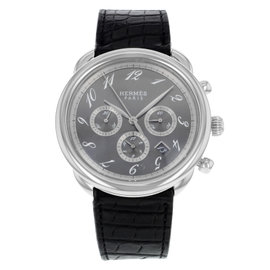 Hermes Arceau Chronograph AR4.910 Stainless Steel Automatic 42mm Mens Watch