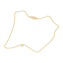 Cartier 18K Yellow Gold With Diamond Bead Necklace