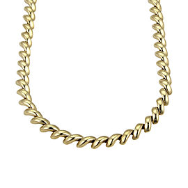Tiffany & Co. Vintage 18K Yellow Gold Macaroni Link Necklace
