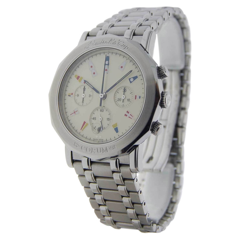 """""""""""Corum Admirals Cup 296.830.20 Stainless Steel Automatic Chronograph"""""""""""" 1270958"""