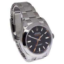 Rolex Milgauss 116400 Stainless Steel Black Dial 40mm Mens Watch