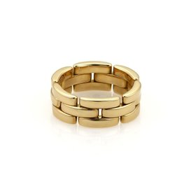 Cartier Maillon Panthere 18K Yellow Gold Wide Band Ring 6.5