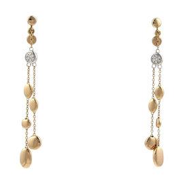 Roberto Coin 18K Rose & White Gold Diamond Pebble Dangle Earrings