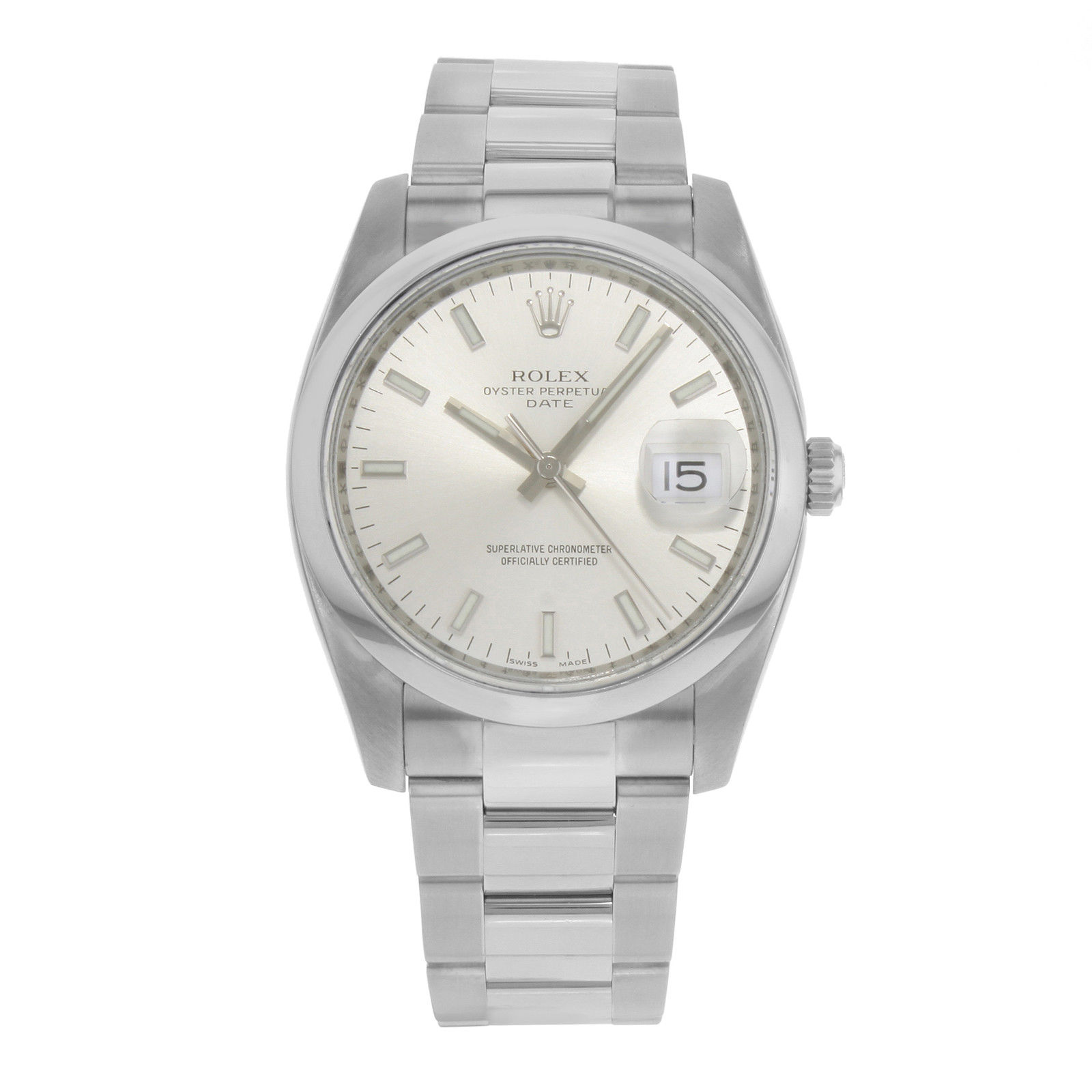 """Image of """"Rolex Date 115200 Stainless Steel Automatic 35mm Mens Watch"""""""