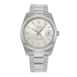 Rolex Date 115200 Stainless Steel Automatic 35mm Mens Watch