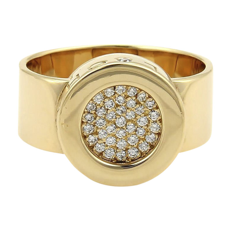 "Image of ""Chanel 18K Yellow Gold and 0.25ct Diamond Ring Size 5"""