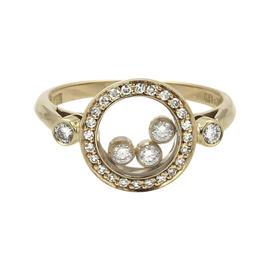 Chopard 18K Yellow Gold 0.4ct Diamond Ring Size 6.5