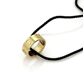 Cartier Love Astro 18K Yellow Gold Band Ring Size 5.75 and Necklace