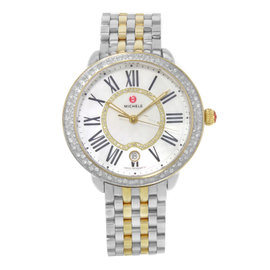 Michele Serein MWW21B000032 Stainless Steel & Yellow Gold Quartz 36mm Womens Watch