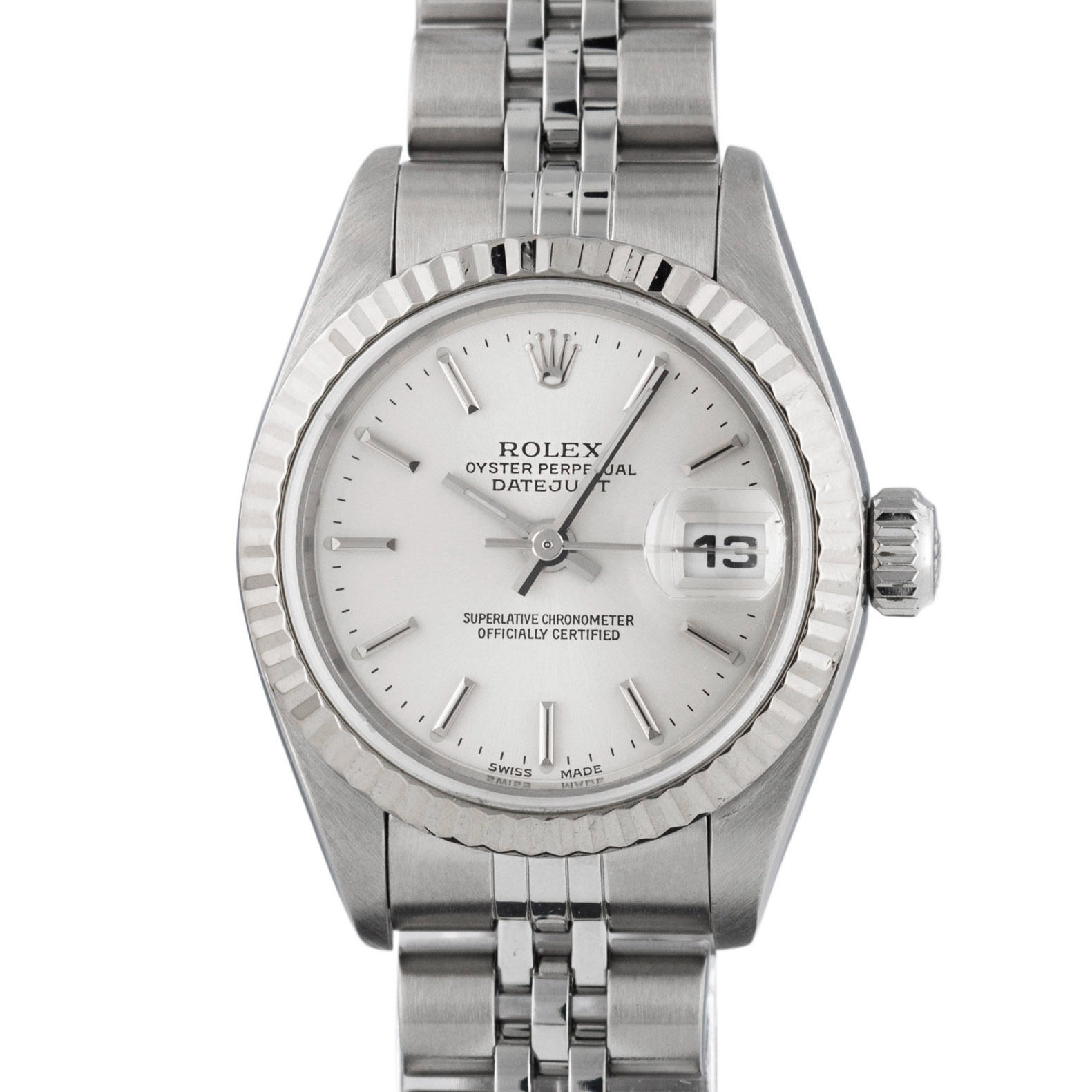 """Image of """"Rolex Datejust 79174 Stainless Steel & 18K White Gold 26mm Womens"""""""