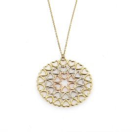 Tiffany & Co. 18K Yellow Gold, Rose Gold and White Gold Pendant Necklace
