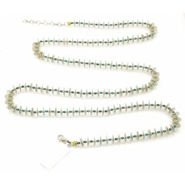 Gurhan Sterling Silver & 24K Layered Yellow Gold Turquoise Necklace