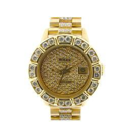Rolex Datejust 6917 18K Yellow Gold Diamond Dial, Bezel & Band 26mm Womens Watch