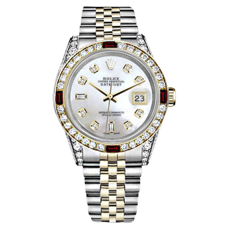 """Image of """"Rolex Datejust Stainless Steel and 18K Yellow Gold with White Mother"""""""