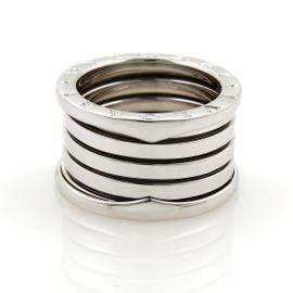 Bulgari 18K White Gold B Zero-1 Band Ring Size 5.5