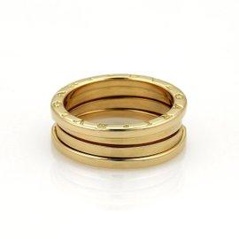 Bulgari 18K Yellow Gold B Zero-1 Wide Band Ring Size 10