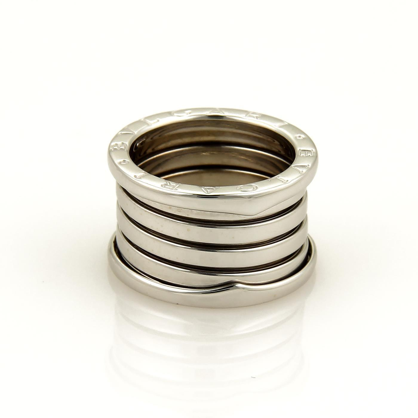 "Image of ""Bulgari 18K White Gold B Zero-1 Band Ring Size 6.5"""