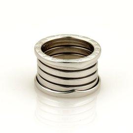 Bulgari 18K White Gold B Zero-1 Band Ring Size 6.5