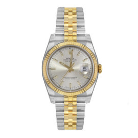 Rolex Datejust 116233 18K Yellow Gold & Stainless Steel Automatic 36mm Mens Watch