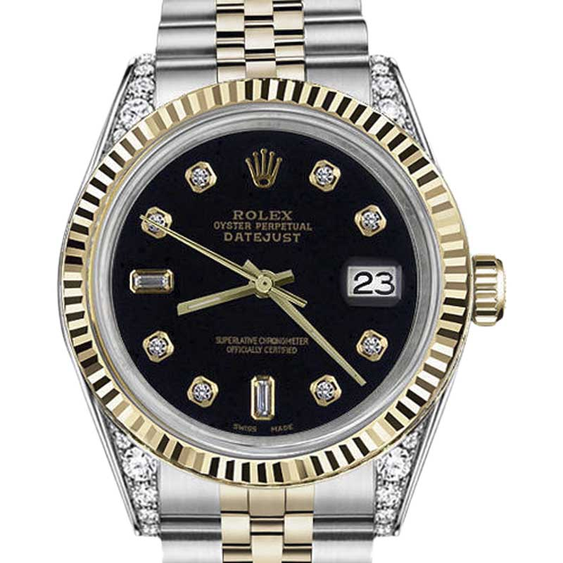 """Image of """"Rolex Datejust Two-Tone 18K Gold & Steel 8+2 Diamond Numbers 36mm"""""""