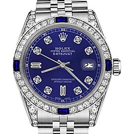 Rolex Datejust Blue Color Dial with Sapphire & Diamond Bezel Accent 26mm Unisex Watch