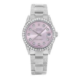 Rolex Datejust 78240 Stainless Steel with 3ct. Diamonds Automatic 31mm Unisex Watch