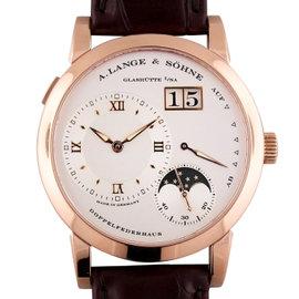 A. Lange & Sohne Lange 1 109.032 18K Rose Gold / Leather 38.5mm Mens Watch