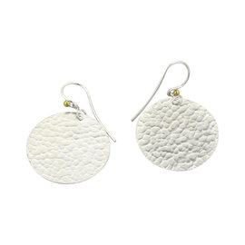 Gurhan Lush 925 Sterling Silver 24K Layered Gold Flake Disc Dangle Earrings