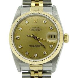 Rolex Datejust 68273 18K Yellow Gold & Stainless Steel 31mm Unisex Watch