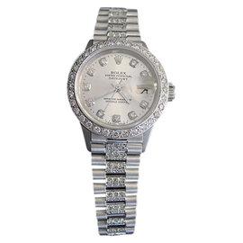 Rolex Datejust 6917 18K White Gold Diamond Dial, Bezel & Band 26mm Womens Watch