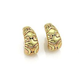 Bulgari Alveare 18K Rose & Yellow Gold Oval Hoop Earrings