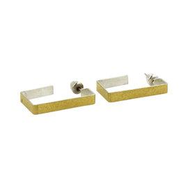 Gurhan 925 Sterling Silver & 24K Layered Yellow Gold Hoop Earrings