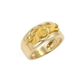 Carrera Y Carrera 18K Yellow Gold Diamond Horse Band Ring Size 7.75