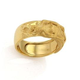 Carrera y Carrera Adam & Eve 18K Yellow Gold Band Ring Size 6.25
