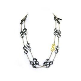 Gurhan 925 Sterling Silver & 24K Gold Necklace