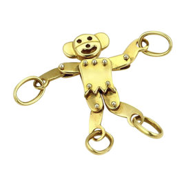 Pomellato 18K Yellow Gold Puppet Animated Monkey Charm Pendant