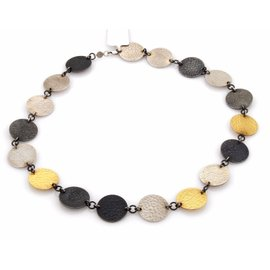 Gurhan Lush 24K Yellow Gold & 925 Sterling Silver Disc Necklace