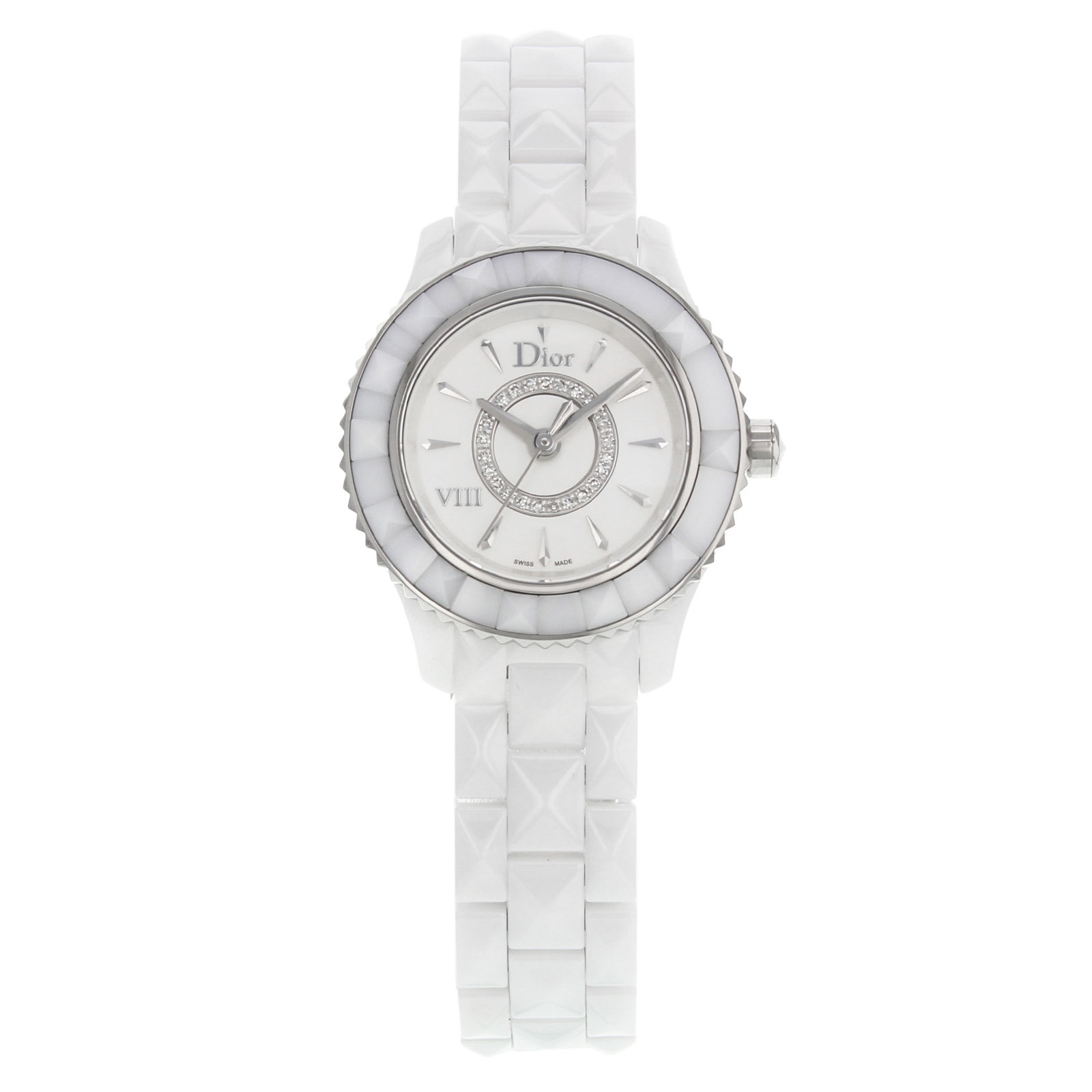 "Image of ""Christian Dior Viii Cd1221E2C001 Stainless Steel & Ceramic wDiamonds"""